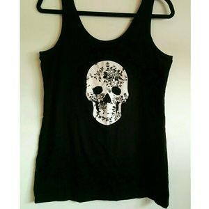 Skull and Roses tank top 💀🌹